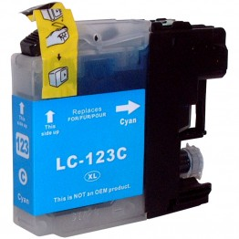 Compatible Brother LC123 Cyan (New Chip)